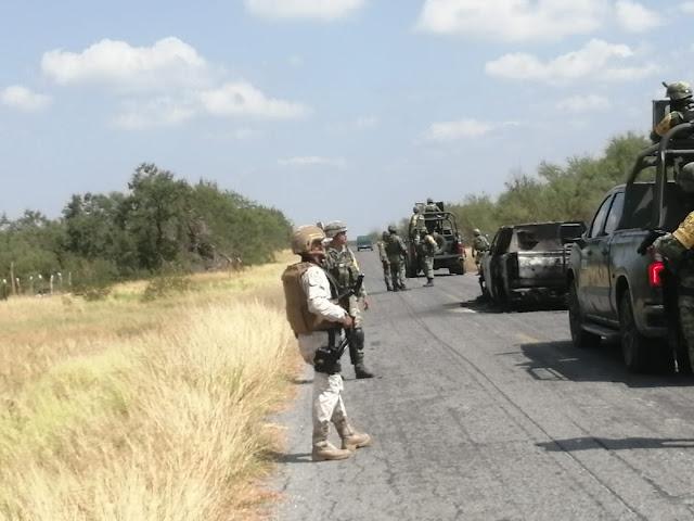 Galería; Vean nada mas; así dejaron y quedaron las camionetas Sicarios del Cártel del Golofo vs Sicarios del Cártel del Noreste ayer en Tamaulipas