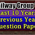 Railway previous year question paper  Group D Old Paper