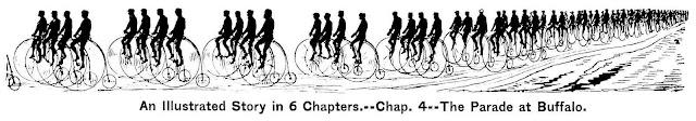 1888 parade of bicycles at Buffalo
