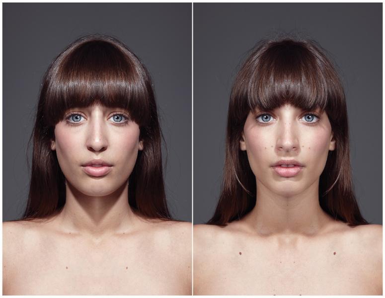 beautiful asymmetrical faces
