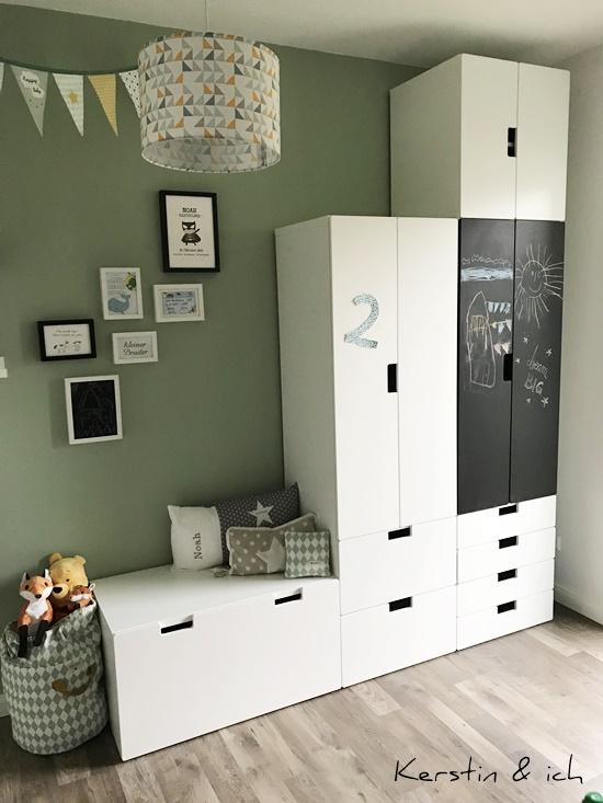 Kinderzimmer Junge Mint Schranksystem Deko