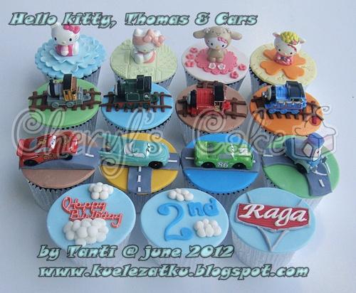 Kue Ulang Tahun Anak Cupcake Birthday Cake Thomas