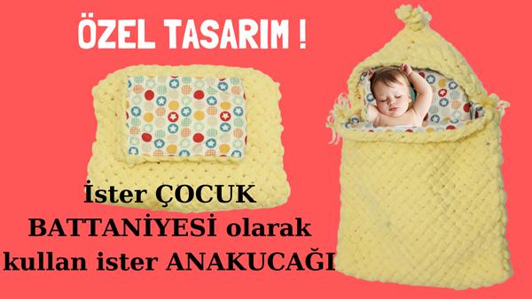 Alize Puffy Ana kucağı (port bebe battaniye) bebe tulumu yapımı | Özel tasarım- VİDEO