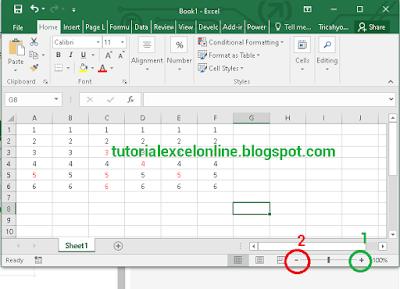 Zoom perbesar dan perkecil Excel