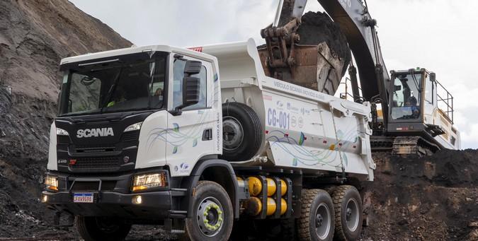 Gerdau e Scania iniciam operação com primeiro caminhão a gás da mineração no Brasil