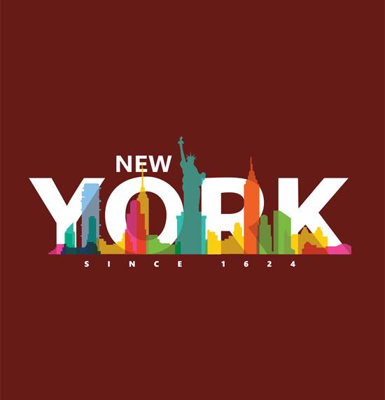Diseño para Playeras de New York - Camisetas mockup