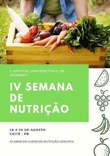 UFCG promoverá IV Semana da Nutrição em Cuité