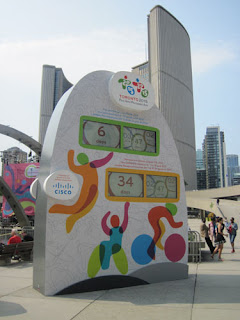 Pan Am Games Countdown Clock. Only 6 days to go.