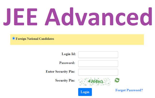 JEE Advanced Registration 2021