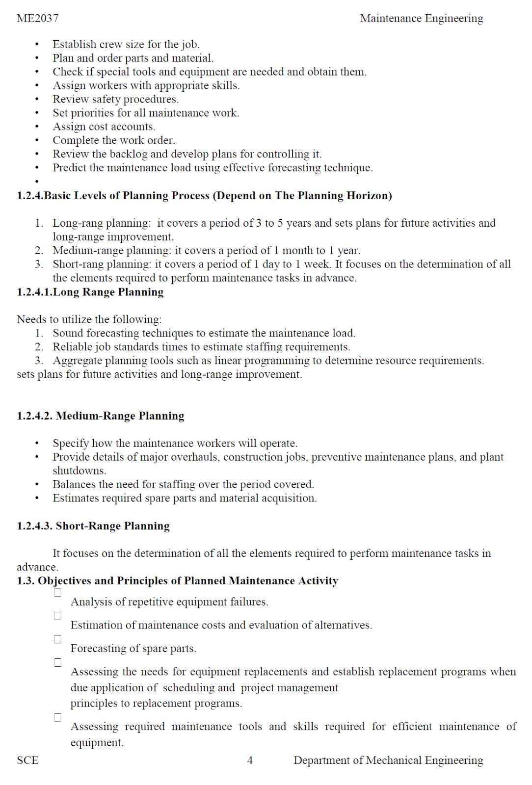ME6012 Maintenance Engineering Notes PDF - University