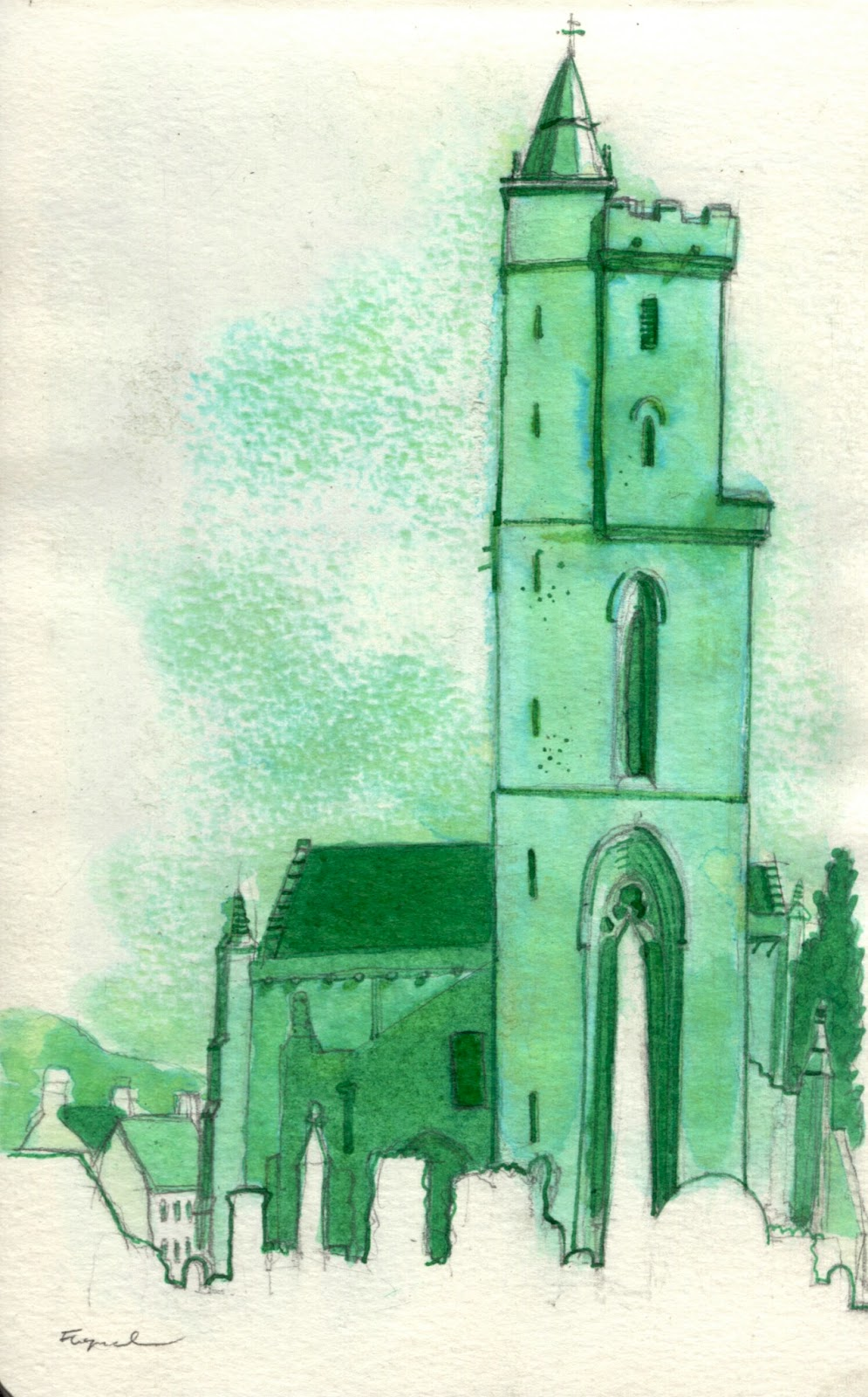 It Wasn\'t Easy Being Green | Urban Sketchers