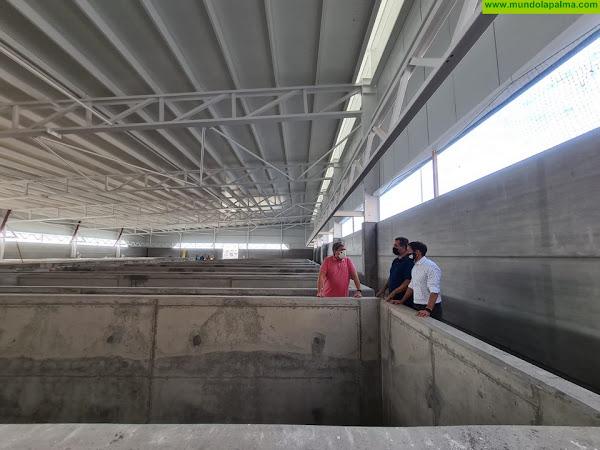 El eurodiputado y el presidente del Cabildo de La Palma, Mariano H. Zapata, visitan las obras de una instalación innovadora de acuicultura en Tazacorte