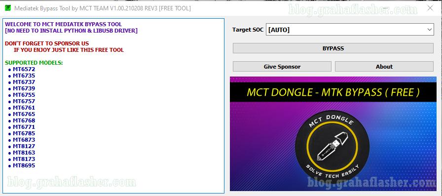 MCT MTK Bypass Tool v1.00.21.2.8 REV3