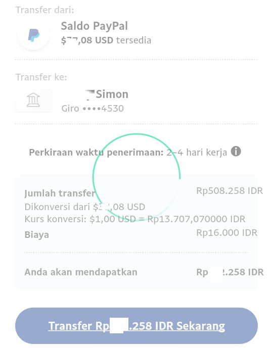Cara menarik saldo Paypal ke rekening BRI