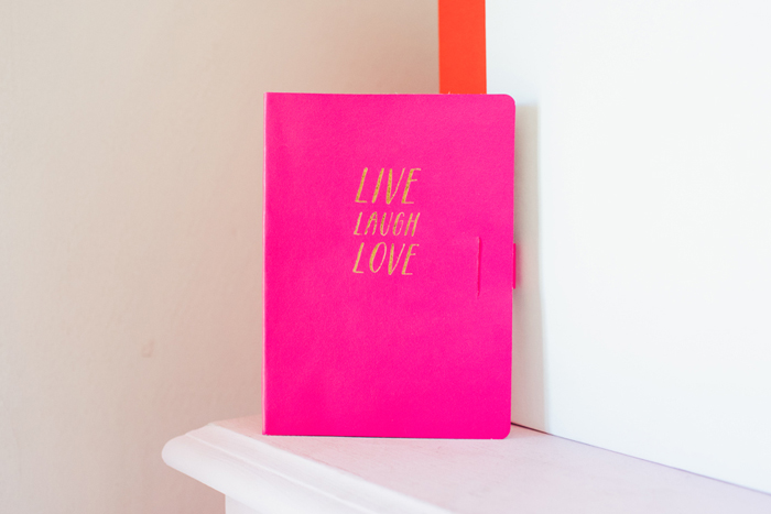 pink kikki k notebook