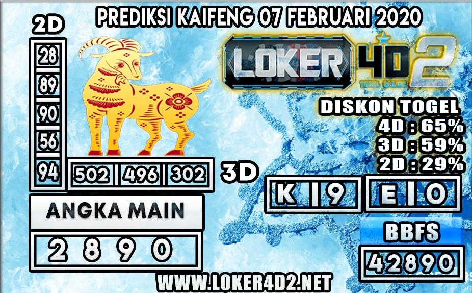 PREDIKSI TOGEL KAIFENG LOKER4D2 07 FEBRUARI 2020