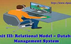 Unit III: Relational Model - Database Management System