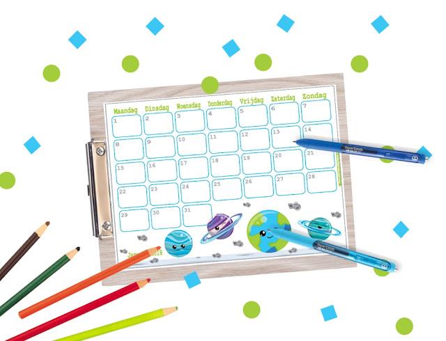 kalender 2018 voor kinderen, kalender voor jongens, kalender om te printen, 2018 kalender, kalender printen, printable kalender, lieve kalender, stoere kalender, frozen kalender, brandweermannen kalender, schattige kalender, januari kalender, kalender januari