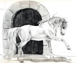 dibujos-de-caballos-representativos-trazos cuadros-caballos-artisticos-trazos
