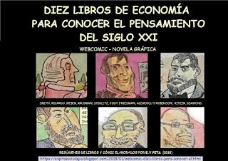 """Webcomic: """"Diez libros para conocer el pensamiento del siglo XXI"""" (E.V.Pita, 2019)"""