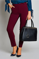 Pantalon Bonnie Bordo Office Eleganti
