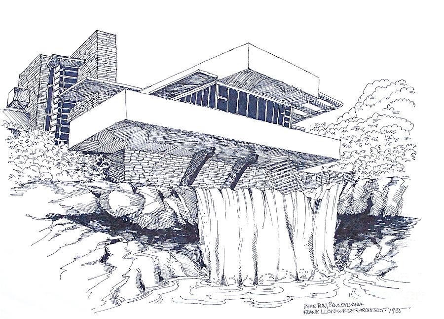 Diễn họa kiến trúc nhà trên thác