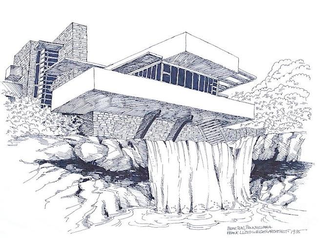 Muôn kiểu diễn họa kiến trúc Nhà trên thác (Falling House)