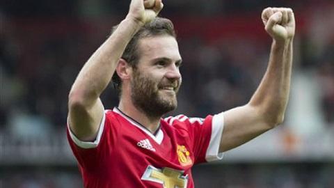Juan Mata nhận danh hiệu cầu thủ MU hay nhất do người hâm mộ MU bình chọn