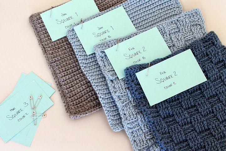 Smart! Label crochet squares as you go. Crochet along Afghan Sampler 2015 | The inspired Wren
