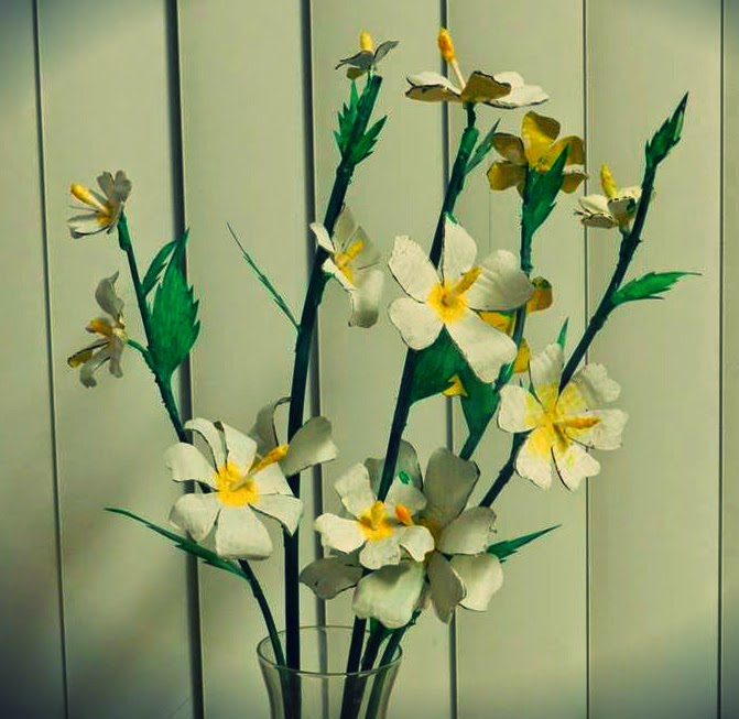 Creative Diy Crafts Beautiful Flower Vase With Cardboard Flowers