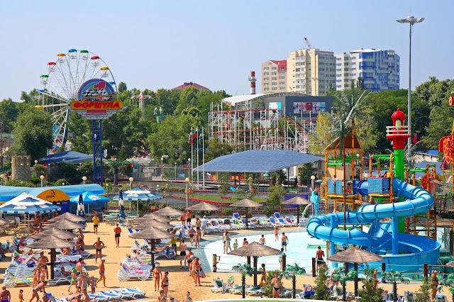 Аквапарк «Золотой пляж». Анапа. Детский сектор
