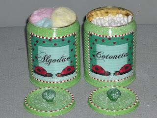 reciclagem reciclavel reciclando artesanato diy faca voce mesmo lata latinha kit higiene porta algodao cotonete