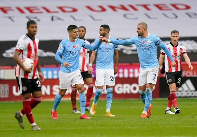 Kyle Walker's Long-Range Strike Move Manchester City Two Points Off Top Of EPL Table