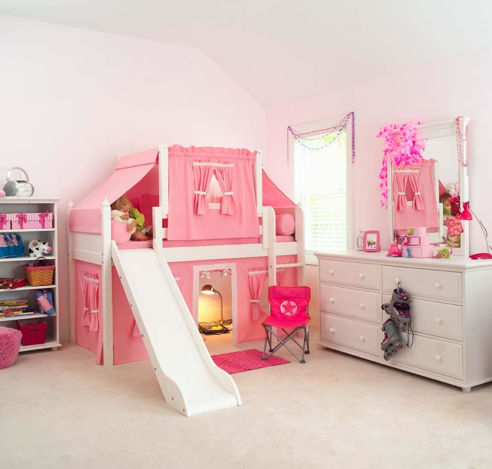 Awesome Tent Kids Beds Feel The Home Pink Castle Bed For Children With Loft Panel Bed With Slide And Wooden Cabinet 6 Drawer Also Shelf That Can Be Used To ... & Cute Bed Tent Design For Boys - Home Design Ideas