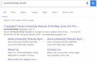 Anna University Revaluation Results 2017 April May June UG PG Results
