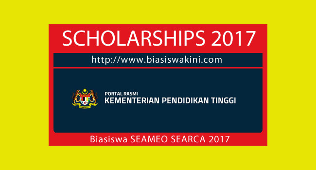 Biasiswa Penajaan SEAMEO SEARCH Graduate Scholar 2017