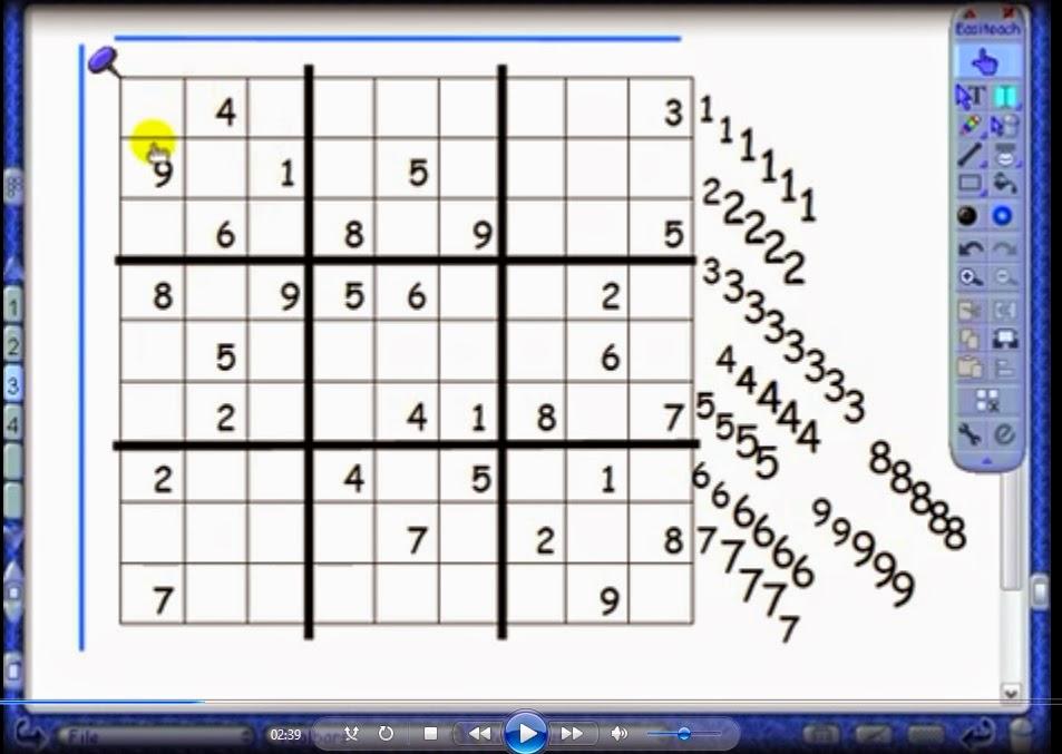 Math Principles Solving Sudoku Puzzle
