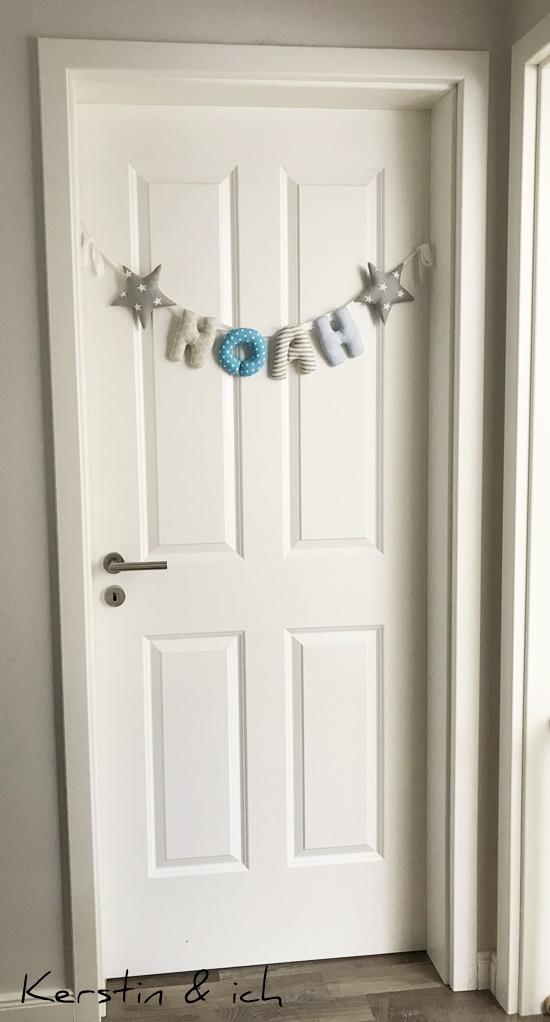 Kinderzimmer Junge Tür Namenskette