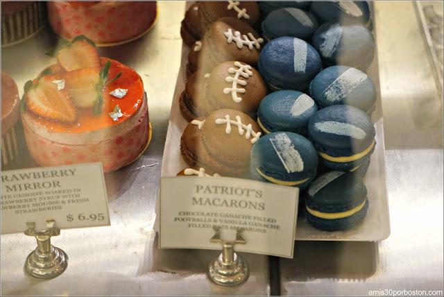 Macarons de los Patriots en el Mercado de Boston