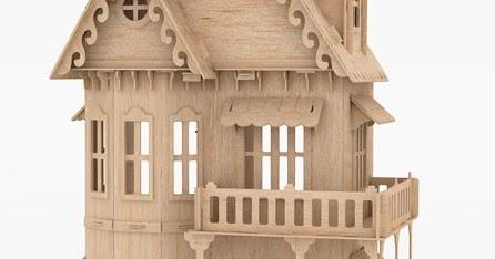 Casa gotica hecha en madera mdf rompecabezas 3d puzzle for Casa revival gotica