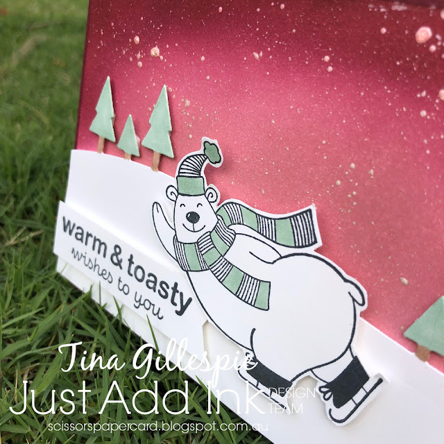 scissorspapercard, Stampin' Up!, Just Add Ink, Warm & Toasty, Itty Bitty Christmas, Home Together Dies,