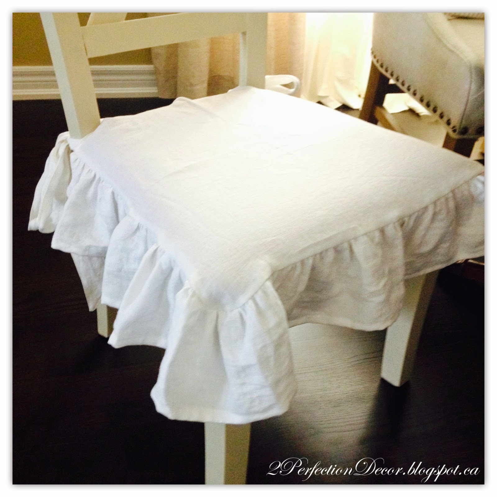Linen Dining Chair Covers Office You Can Sleep In 2perfection Decor X Back Chairs Makeover With
