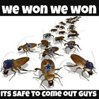 #cockroach #cowboys, #nflmeme, #nfl. we won we won Its safe to come out guys