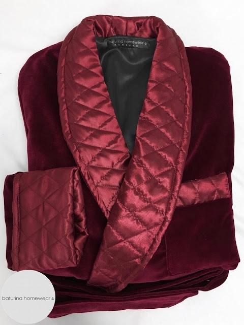 burgundy velvet mens smoking jacket maroon quilted silk collar dressing gown red robe old fashioned vintage gentleman housecoat