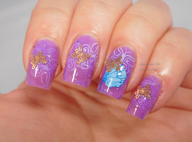 Flutterby with Charlie's Nail Art charms and Spellbound Nails The Knight Bus