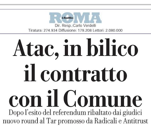 Situazione del trasporto pubblico di Roma di giovedì 5 dicembre