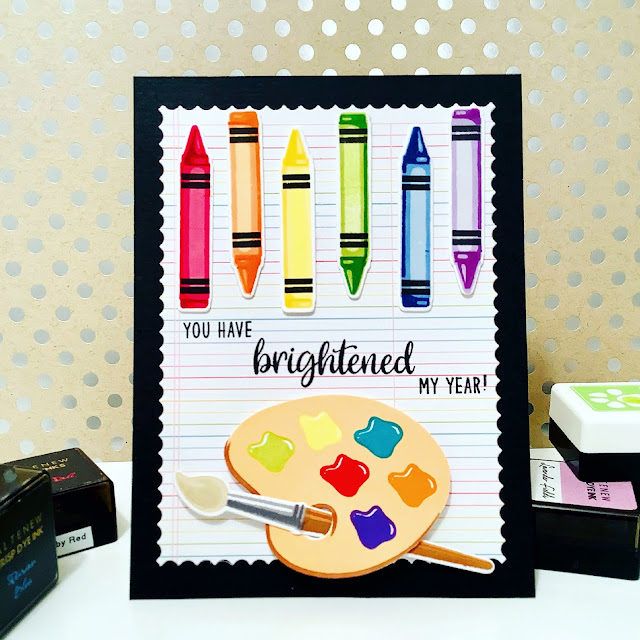 Sunny Studio Stamps: Color My World Customer Card by Judy Tuck