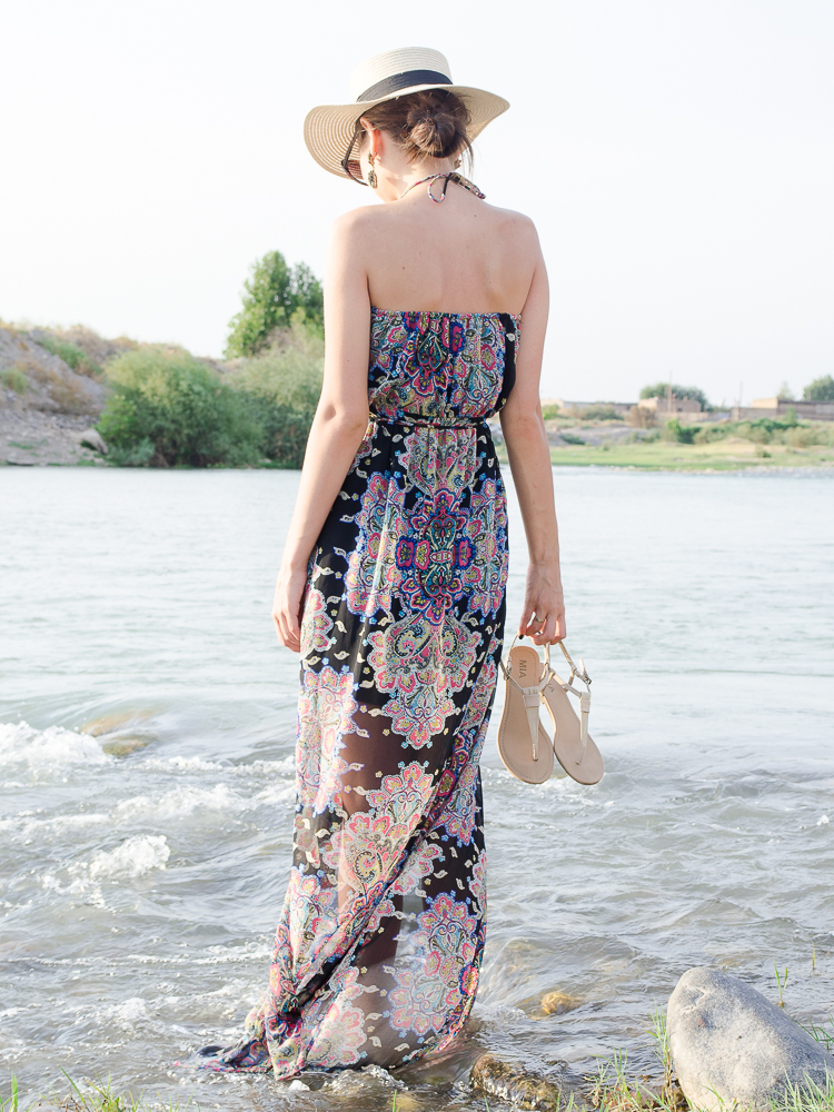 fashion-blogger-maxi-dress-mango-straw-hat