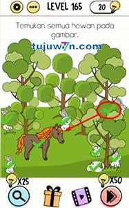 level 165 brain test jawaban : temukan semua hewan pada gambar