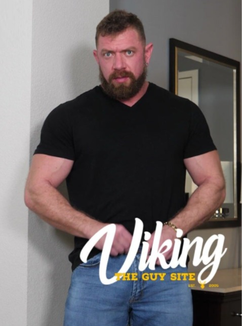 Viking Strong Viking Jerks Off Indoors Cover